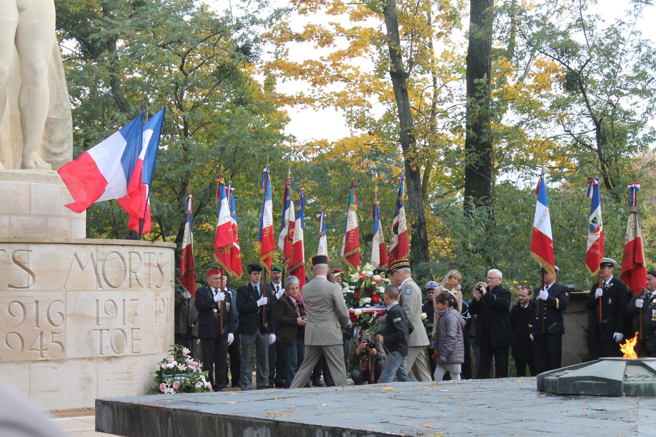 11 novembre comm moration de l armistice de 1918 au parc de la t te d or - Dormir la tete au sud est ...