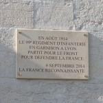 Plaque commémorative réalisée par ateliers Thomasset  et posée par l'entreprise Comte le 2 septembre 2014